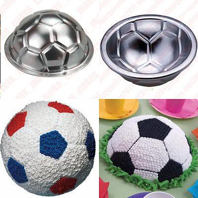 Soccer Ball 3D Sports Football Birthday Cake Pan Tin Mold Mould Aluminium Craft