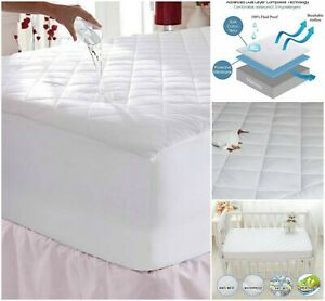 WATERPROOF-MATTRESS-PROTECTOR-100-COTTON-QUILTED-TOPPER-BED-FITTED-DOUBLE-KING