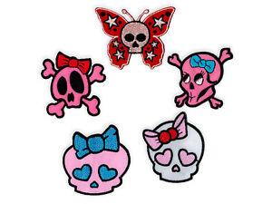 Humor Aufnäher Lolita Skull Punk Rockabella Gothic Rock Emo Wgt Girlie Patch Aufbügler