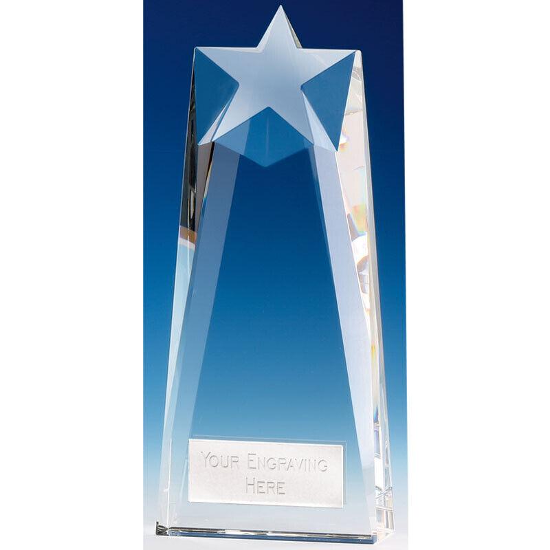 Star Principal Crystal Multispot Trophy,Award, 215mm,FREE Engraving,(KK278B)GW