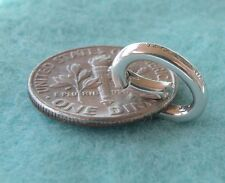 Tiffany & Co. Silver Pendant Hook Oval Spring Jump Ring Charm Holder Clasp New