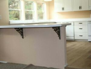 Details about (2) Kitchen Island Counter top Accent Corbels Brackets Cast  Iron XL 13\