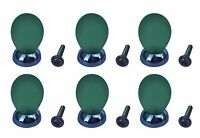(6-pack) Liberty Hardware Drawer Knob Orb Cabinet Pull Green Chrome Base Juvenil