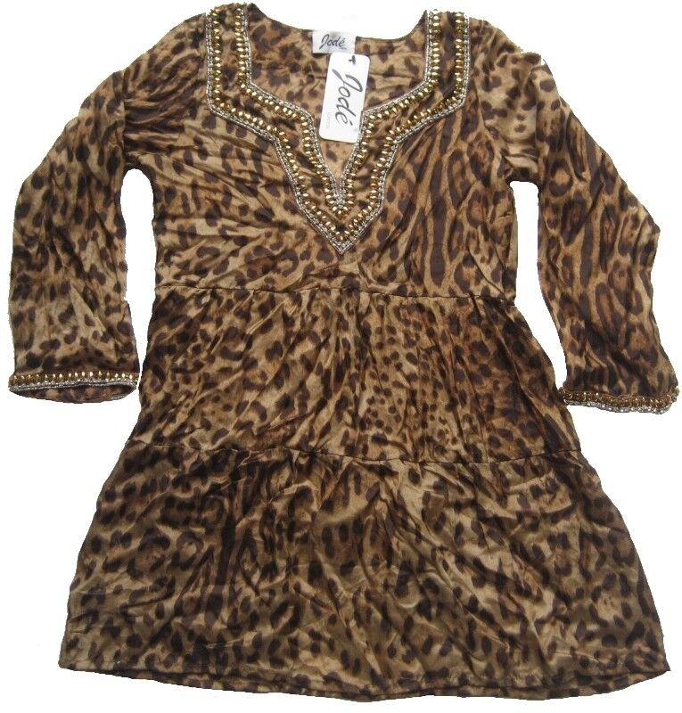 JODE LONDON Damen LongBlause DOVEV Gr. S Leopardenprint
