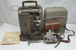 Vintage-Bell-amp-Howell-253-A-Movie-Film-Projector-8mm-with-8mm-134-Camera-Bundle