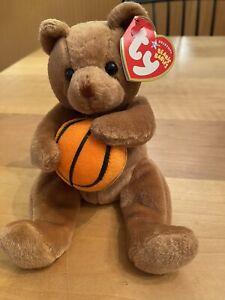 Ty Beanie Baby Babies HOOPS The Basketball Bear  MWMT