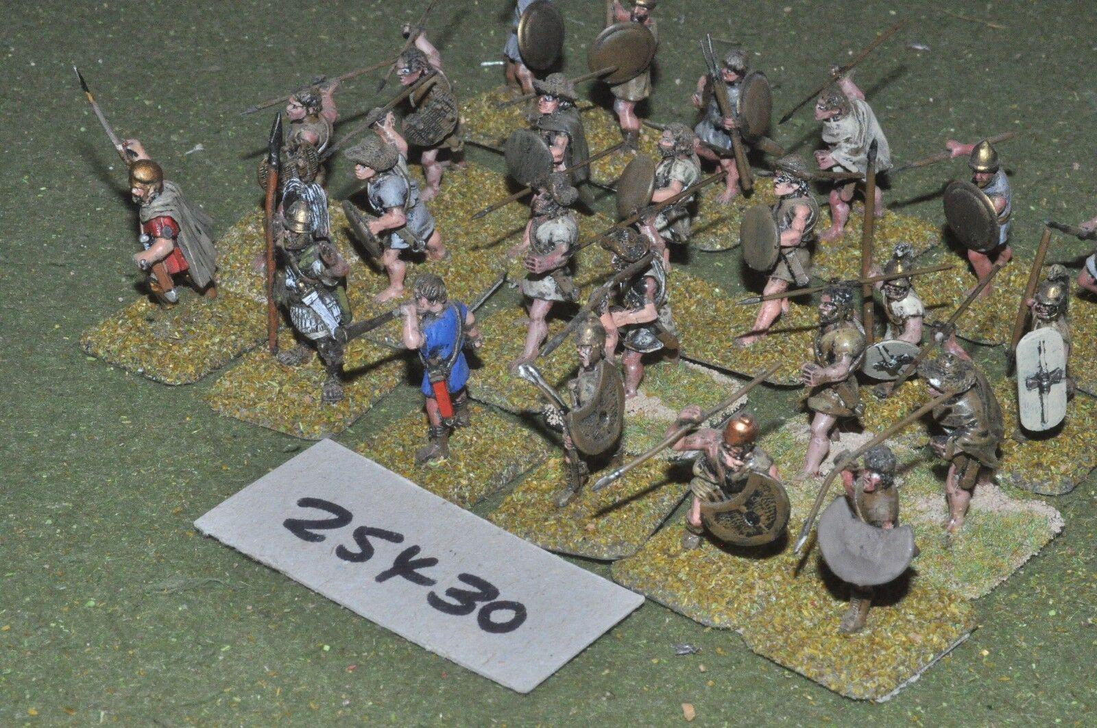 25mm classical   greek - javelinmen (plastic & metal) 24 figures - inf (25430)