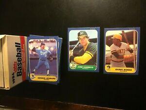 1986-Fleer-Baseball-Cards-Update-Set-Barry-Bonds-Jose-Canseco-Clark-RC-NM-MT