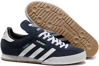 adidas Samba Mens Originals Trainers Navy Blue Suede Classic Super Indoor Casual
