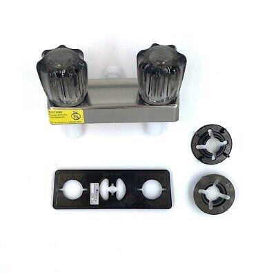 "4/"" Tub and Shower Diverter Faucet Bone//Smoke for RV//Camper//Mobile Home//Trailer"