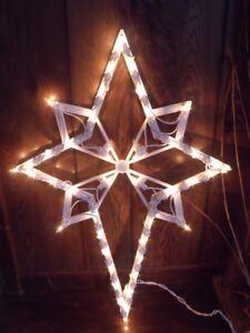 Christmas Outdoor Lighted Nativity Set Star Of Bethlehem Window
