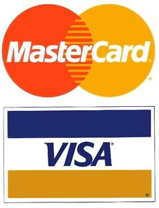 Visa mastercard 2 pack small credit card logo decal for Visa small business credit card