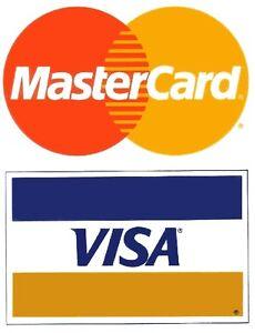 Visa / MasterCard (10/Pack) SMALL Credit Card Logo Decal ...
