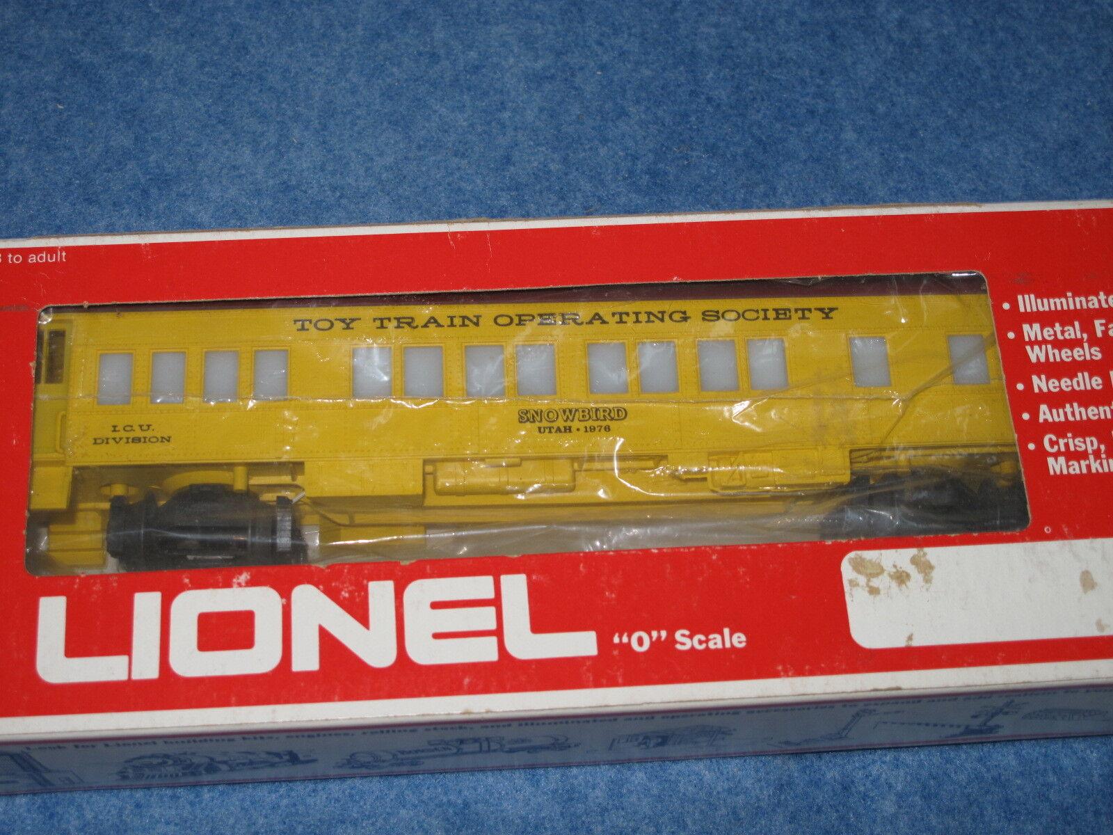 1976 Lionel 6-9526 TTOS Observation Car Snowbird Utah ICU Division L1126