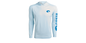 Costa Technical Performance Fishing Hoodie Pick Size-Free Ship Blue UPF 50