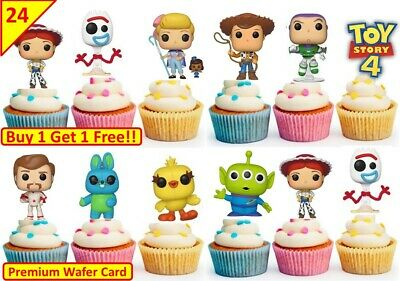 35 x Toy Story Edible Cup Cake Fairy Bun Toppers Birthday Party Premium Wafer