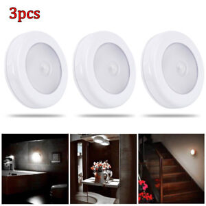 3x-6-LED-Motion-Sensor-Light-In-Outdoor-Wall-Stair-Shed-Lamp-Battery-Stick-on-UK