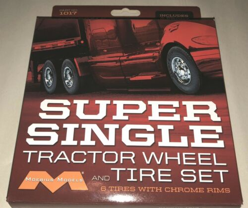 Moebius Super Single Tractor wheel and tire set for model kit 1/25 scale 1017