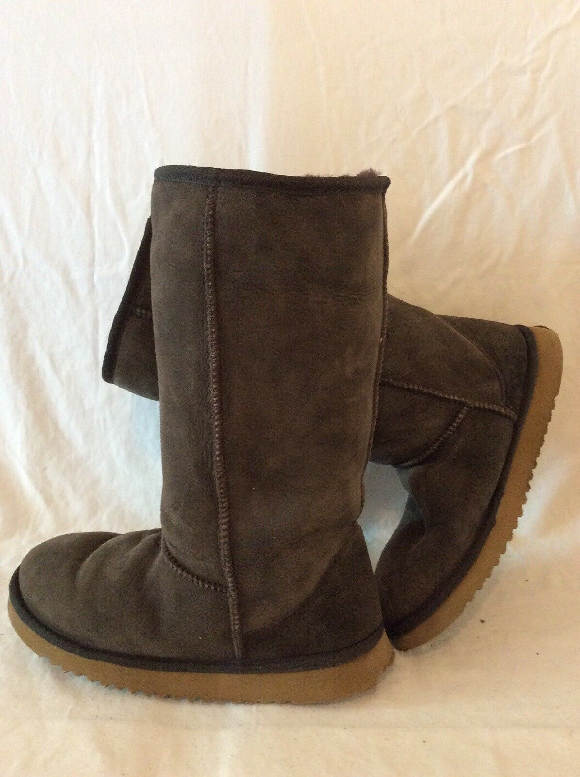 Real Sheepskin Boots Brown Mid Calf Boots Size 6