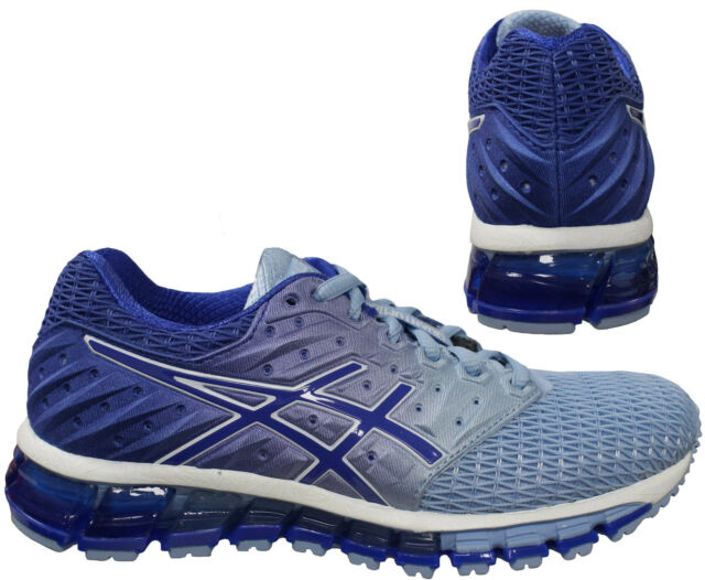 sale retailer 3f829 ace62 Asics Gel Quantum 180 2 Lace Up Blue Womens Running Trainers T6G7N 3948 B68A