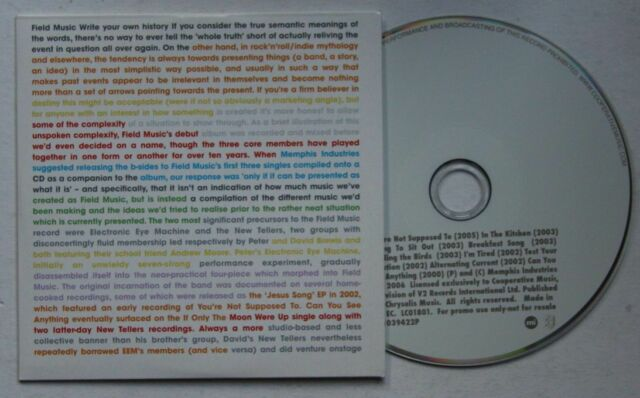 Field Music Write Your Own History 2006 Adv Cardcover CD Indie Britpop