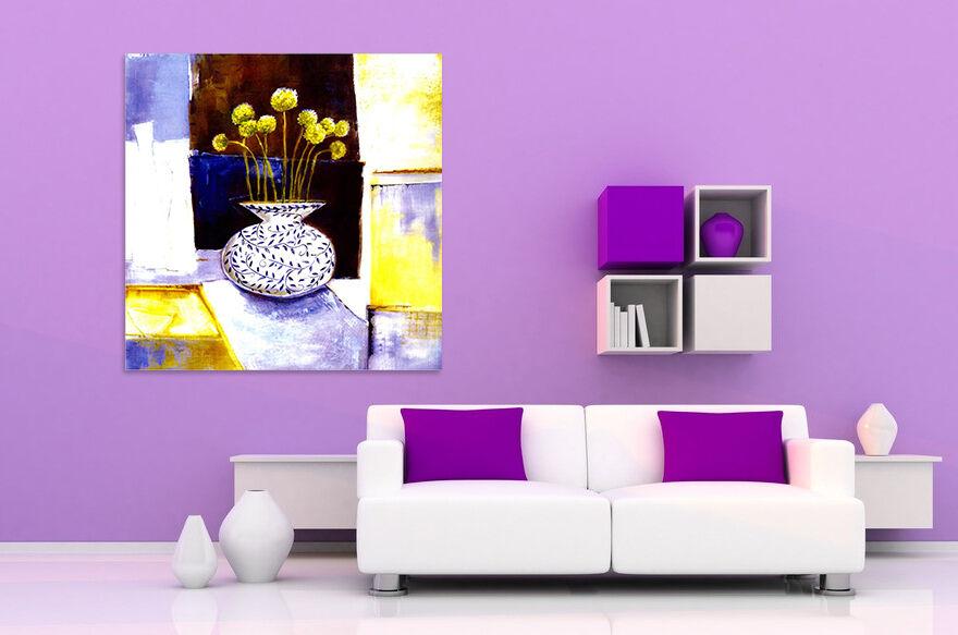 3D Die vase Gelb 6233 Fototapeten Wandbild BildTapete AJSTORE DE Lemon