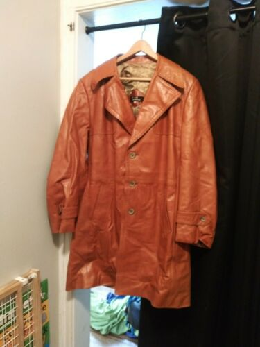Leather Trench Coat.