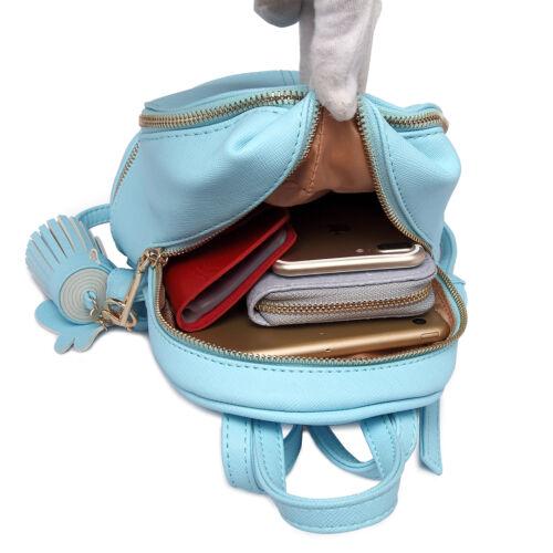 Ladies Girls Small Cute Mini Backpack PU Leather School Shoulder Bag Travel