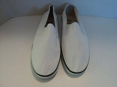 Bob Barker Step-In Navy Canvas Deck Shoes Women Size 13 Men Size 11
