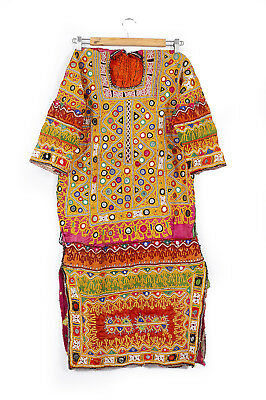 Mirror Work Old Vintage Handmade Embroidery Dresses From India And
