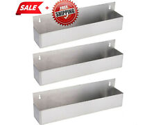 3 Pack 22 Silver Stainless Steel Single Tier Commercial Bar Speed Rail Rack Cps