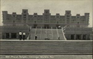 1933-Chicago-World-039-s-Fair-Mayan-Temple-Postcard
