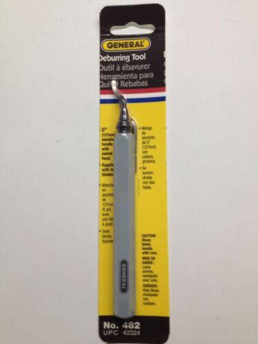 "New General Tools 482 Swivel Head Deburring Two Blades 5/"" Aluminum Sale"