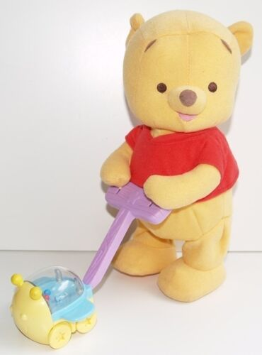 """13/"""" FP Pooh Bear Turtle Musical Motion Moving Wiggle /& Shake Rattle Soft Toy"""