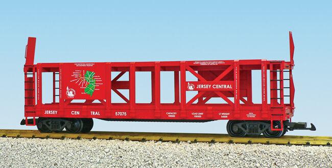 USA Trains G Scale R17235 R17235 R17235 Jer Cen w Railroad Map Graphic Two-Tier Auto Carrier e152e6