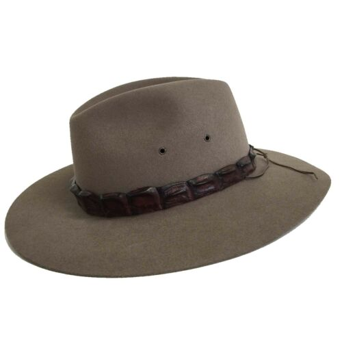 Akubra Genuine Coolabah Traditional Australian Made Bush Cowboy Hat Size 5165cm