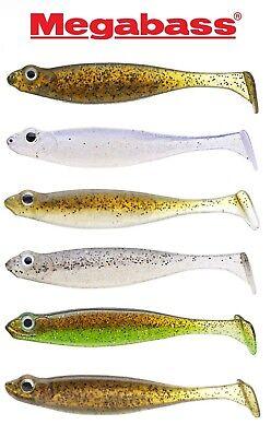 """Megabass Hazedong Shad 4.2/"""" Soft Body Paddletail Swimbait Japanese Fishing Lure"""