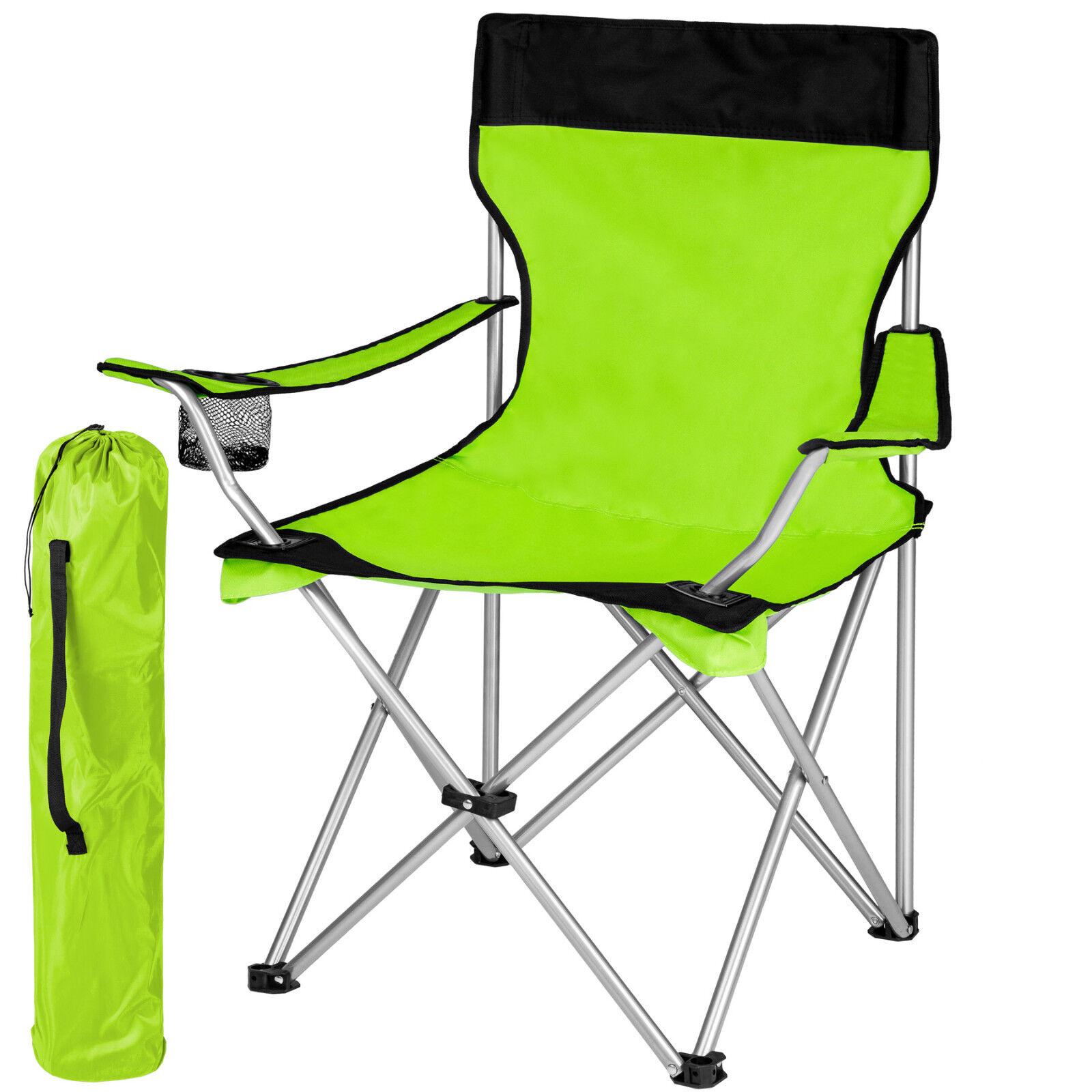 Campingstuhl grün mit hoher Lehne Klappstuhl Regiestuhl Anglerstuhl Gartenstuhl grün Campingstuhl 86d3ea