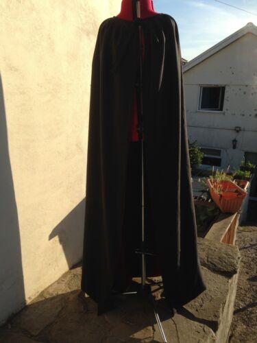 Black Cloak With Wine Lining