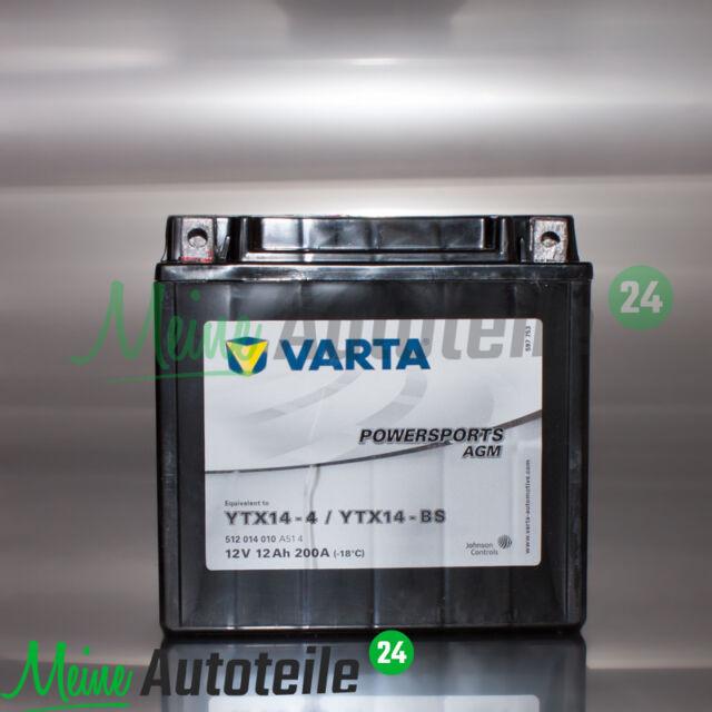 VARTA YTX14-BS MOTORRAD QUAD ATV BATTERIE AGM 12V 12 Ah YTX14-4