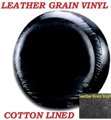 LINED VINYL SPARE TIRE COVER 225/75R15 NEW black 225 75 15  LEATHER GRAIN