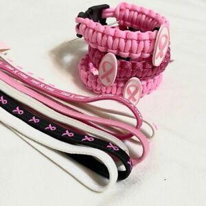 Breast Cancer Awareness Bundle Headbands Bracelets Ebay