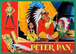 T62 Fotobusta die Abenteuer Von Peter Pan Walt Disney Animation Zeichentrick 1