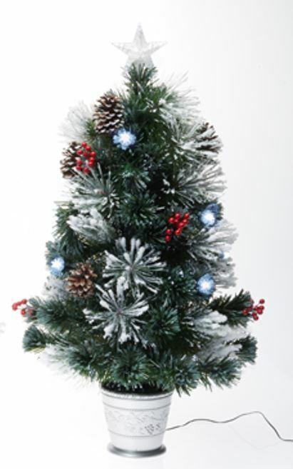 90cm LED Beleuchteter künstlicher Weihnachtsbaum Christbaum Tannenbaum Deko weiß