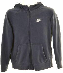 NIKE-Boys-Hoodie-Sweater-12-13-Years-Large-Blue-Cotton-MA09