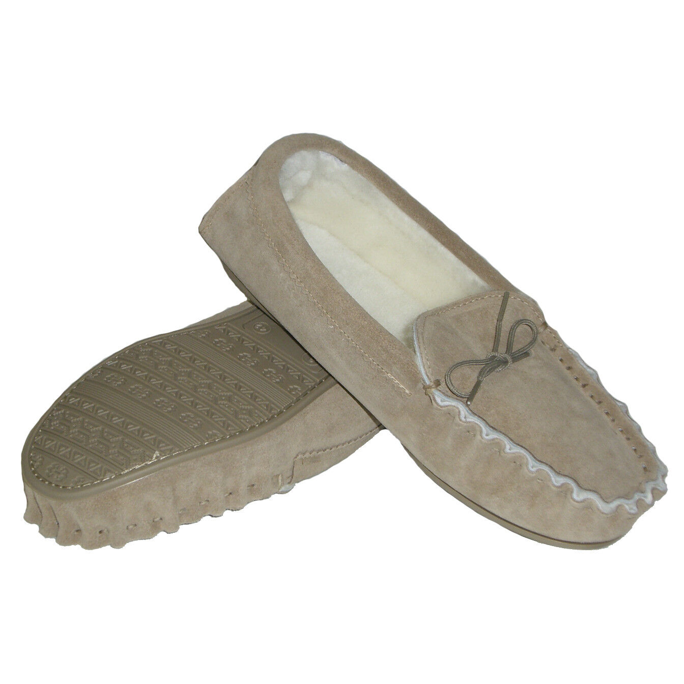 Womens 100% Sheepskin Lined Suede UK Moccasins - Made in UK Suede 5c157c
