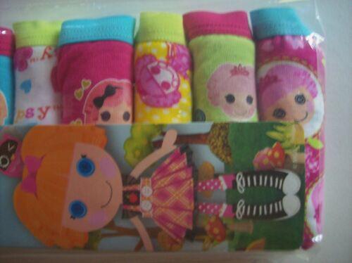 Lalaloopsy Underwear Underpants Girl 7 Brief Pk Sz 2T//3T 4Toddler Fungals NIP