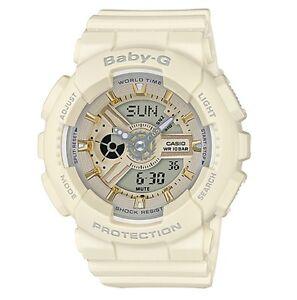 Casio-Baby-G-BA110GA-7A2-Anadigi-Matte-Ecru-amp-Gold-Watch-COD-PayPal