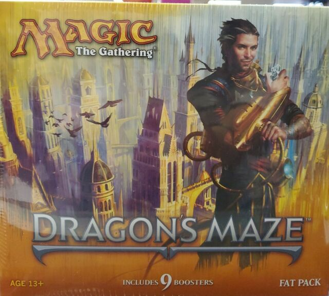 MTG English Magic the Gathering DRAGON'S MAZE Fat Pack Bundle SEALED