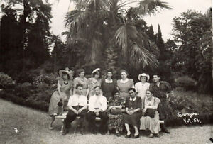 1953-photo-GROUP-OF-SOVIET-PEOPLE-IN-RESORT-IN-BATUMI
